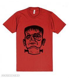 FRANKENSTEIN HEAD | Cool & original Frankenstein head #Halloween Design! #Skreened
