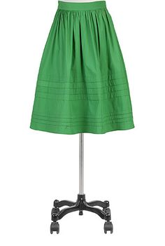 Pintuck pleat poplin skirt - @eShakti.com
