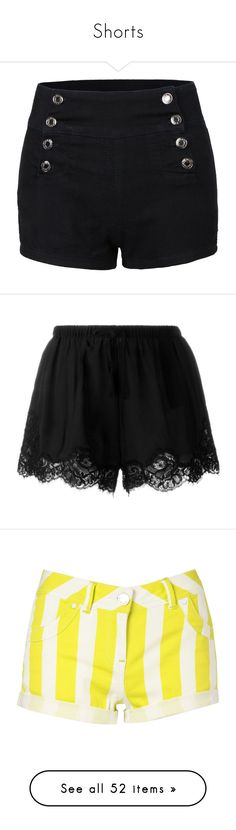 """""""Shorts"""" by emhenry ❤ liked on Polyvore featuring shorts, bottoms, pants, short, high-waisted shorts, high waisted stretch shorts, high waisted sailor shorts, high rise shorts, stretchy shorts and black"""