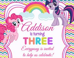Mi pequeño Pony Rainbow Dash fiesta por PrettyPaperPixels en Etsy