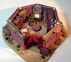 Inside View of a Fortune Tellers Tent click on pictures to see how was made and what was used