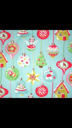 Cath kidston christmas patterns for handpainting on cake