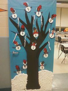 school christmas door decorating ideas - Google Search