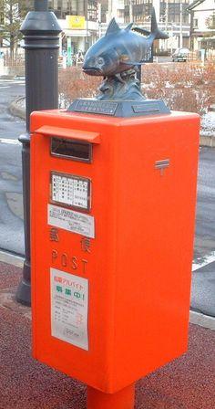 Fish on the Public Mailbox (Miyagi Shiogama-City, East Japan)