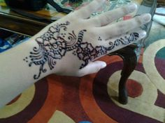 Innai or hena.. in indonesia it used when you get marry