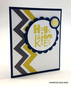 Chevron Card #Stampin'Up!