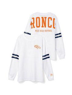Denver Broncos Bling Varsity Crew - PINK - Victoria's Secret