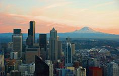 """When Mt. Rainier is in view like this, people in Seattle say, """"The Mountain is out."""""""