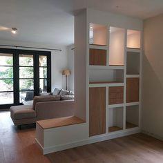 Living Room Partition Design, Room Partition Designs, Diy Room Divider, Storage Room, Sweet Home, New Homes, Studio, Bedroom, Building