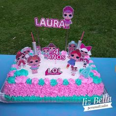 You are in the right place about Lol Surprise Cake with dolls Here we offer you the most beautiful pictures about the simple Lol Surprise Cake you are look Doll Birthday Cake, Funny Birthday Cakes, Birthday Sheet Cakes, 6th Birthday Parties, Barbie Party, Doll Party, Lol Doll Cake, Surprise Cake, Ballerina Cakes