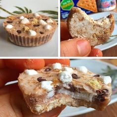 Smores Cheesecake Protein Cup!  After yesterday's Smores Protein Poptart, I was craving some more Smores but didn't have the macros to fit in a Poptart so I went for the protein cup route!  Graham cracker crust topped with a Smores icing with mini choc chips and marshmallow bits! I'm in love  Macros: 45 cals, 4g carbs, 0.5g fat, 5g protein  And you already know the protein cup recipe is in the all new Flexible Dieting Lifestyle Book of Recipes 2.0! This is just a variation of ...