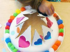 Fun Paper Plate Cap/Crown and Moon Books ! Moon Book, Project 3, Book Crafts, Paper Plates, Paper Goods, Craft Projects, Craft Ideas, Crafts For Kids, Birthday Cake