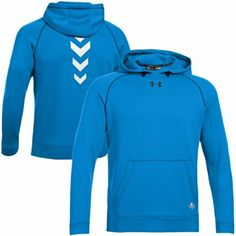 Under Armour NFL Combine Authentic Infrared Pullover Performance Hoodie - Blue