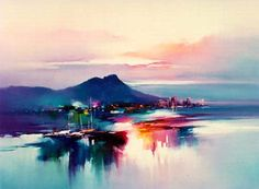 Waikiki Evening Mood by Hong Leung