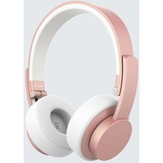 Urbanista Seattle Headphones ($99) ❤ liked on Polyvore featuring accessories, tech accessories, rose gold, rose gold headphones and urbanista