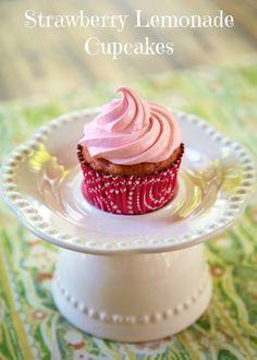 Strawberry Lemonade Cupcakes