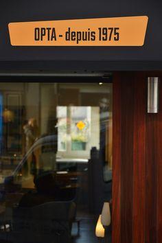 Flavie+Paul, OPTA - identité visuelle et façade boutique Montmartre
