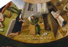 Accidia (da I Sette peccati capitali, attribuito a Hieronymus Bosch, Museo del Prado di Madrid)