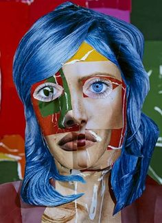 Portrait with Blue Hair, 2013 © Daniel Gordon / Courtesy of the artist and Wallspace, New York