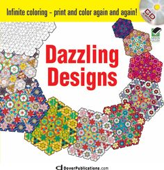Infinite Coloring Dazzling Designs CD and Book