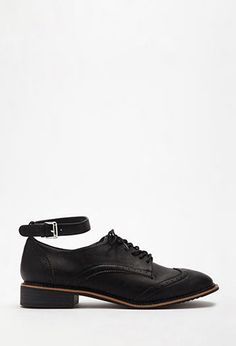 4358382cb8 Faux Leather Ankle-Strapped Oxfords Shop Forever