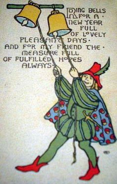 Ring bells for a New Year full of lovely pleasant days, 1915.