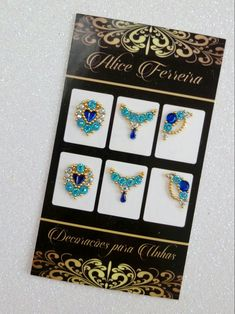 Nail Gems, Gem Nails, Manicure E Pedicure, E Design, Manicures, Nail Art Designs, Stickers, Jewels, Frame