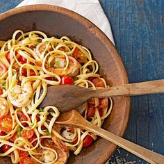 Busy night? For a quick meal, add shrimp, jalapeno peppers, and cherry tomatoes to a simple pasta dish for extra heartiness and spicy flavor. Start with a green salad and you'll meet all your nutrition and satisfaction needs for supper!