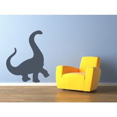 Brontosaurus Stepping Dinosaurs Wall Stickers Wall Art Decal - Brontosaurus - Dinosaurs - Kids & Children