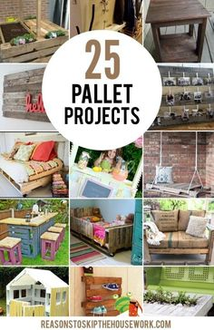 Pallet Designs 25 Pallet Projects that you can make with plain ole' wooden pallets! Pallet Crates, Diy Pallet Sofa, Wooden Pallet Projects, Pallet Art, Wooden Pallets, Pallet Ideas, Pallet Furniture, Pallet Wine, Pallet Shelves