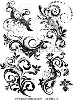 vector floral pack by Kundra, via ShutterStock