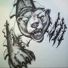 My 1st tattoo 2011  Grizzly Bear