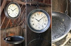 Kitchen Clock resembles a vintage hanging Grocery Scale from www.decorsteals.com