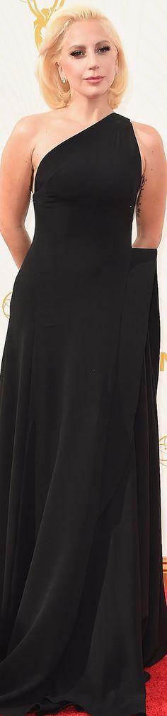 Lady Gaga in Brandon Maxwell 2015 Emmy Awards