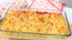 Video and recipe: Pasta bake with shin . - Pasta bake with ham and cheese - Healthy Pasta Recipes, Healthy Pastas, Healthy Eating Tips, Crockpot Recipes, Sicilian Recipes, Greek Recipes, Easy Cooking, Healthy Cooking, Ham And Cheese