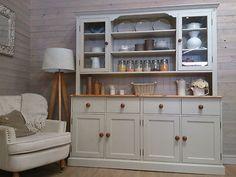 Huge-Solid-Pine-Painted-Welsh-Dresser-Shabby-Chic-Kitchen-Unit-Furniture-F-B