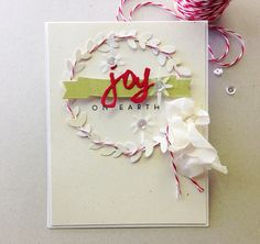 Joy On Earth Card by Danielle Flanders for Papertrey Ink (September 2014)