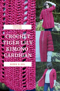 For sizes S - A fun, easy to make crochet garment pattern. There is little seaming and can be easily customizable to fit for all curves and sizes. Crochet Cardigan Pattern, Easy Crochet Patterns, Crochet Shawl, Crochet Yarn, Knitting Patterns, Crochet Sweaters, Vogue Patterns, Crochet Tops, Sewing Patterns