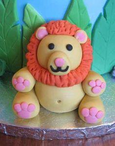 fondant lion