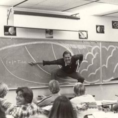 My dad teaching math in Southern California (late 70's/early 80's) - Imgur