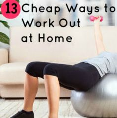 13+ Budget-Friendly Ways to Work Out at Home | via @SparkPeople #fitness #exercise