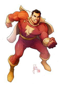 Captain Marvel by Randy Green, coloured by Calvin Clyke