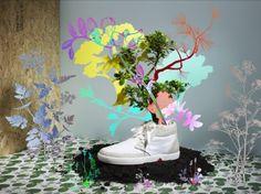 履けなくなったら花を咲かそう!ブーケになるスニーカー「OAT SHOES」   greenz.jp グリーンズ