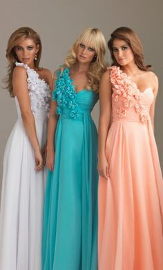 Column Floral One Shoulder Sweetheart Bodice Chiffon Long Evening Dresses/Homecoming Dresses/Prom Dresses/Formal Dresses Prom Dresses With Sleeves, Grad Dresses, Prom Party Dresses, Evening Dresses, Bridesmaid Dresses, Wedding Dresses, Dress Prom, Dress Formal, Homecoming Dresses