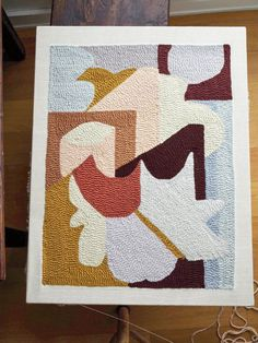 DIY Bath Mat from Modern Rug Hooking featured in Domino Diy Bath Mats, Rug Hooking Designs, Punch Needle Patterns, Rug Yarn, Modern Rugs, Animal Design, Embroidery Patterns, Abstract Embroidery, Knit Patterns