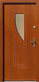 Drzwi zewnętrzne nowoczesne model 634,1 w kolorze ciemny dąb