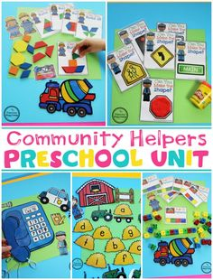 Do you teach a Community Helpers Preschool or Kindergarten Unit? You will LOVE this fun set of pretend play learning centers and no prep worksheets. Farm Animals Preschool, Preschool Learning Activities, Preschool Themes, Preschool Lessons, Preschool Activities, Learning Centers, Space Activities, Community Helpers Kindergarten, Kindergarten Units