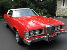 1973 Cougar XR7.  My baby was stolen in August 2012 from an Indianapolis body shop and hasn't been seen since.  She was a 1- 1/2 owner, original.  Red body w/ white top and leather interior.  Missing her.