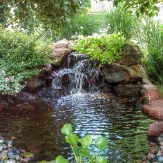 Waterfall created by Neptune's Water Gardens in Gretna, NE. #WaterfallWednesday