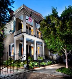 double gallery house . faubourg marigny . new orleans . louisiana